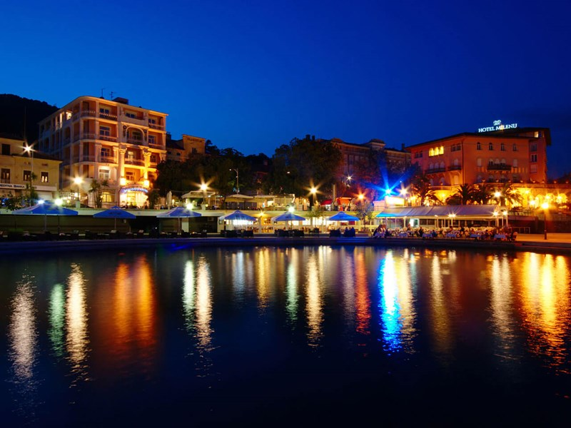 Opatija evening lights