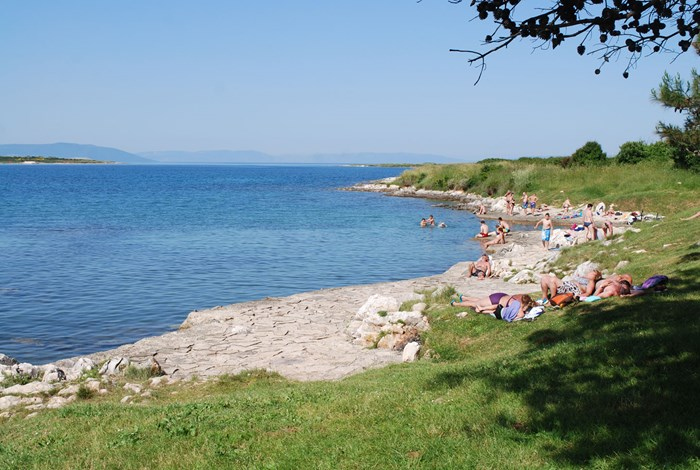 Beach in Liznjan Bay near Pula