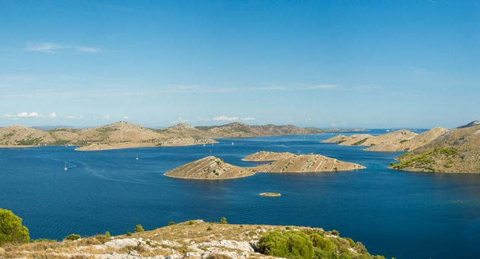 Panorama of the Kornati islands