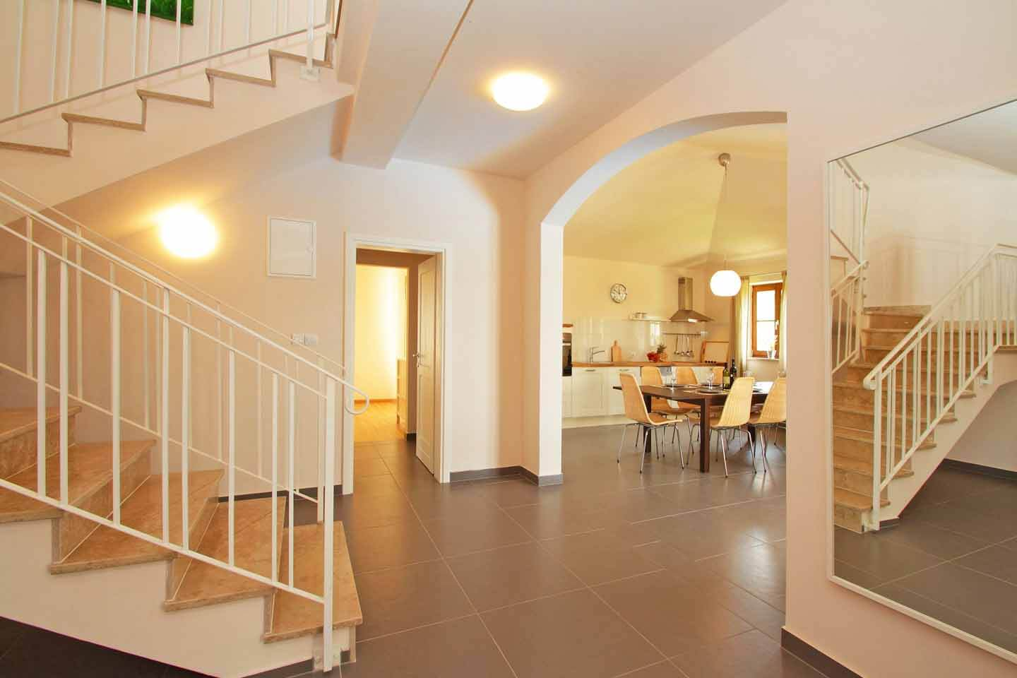 Open plan hall stairs
