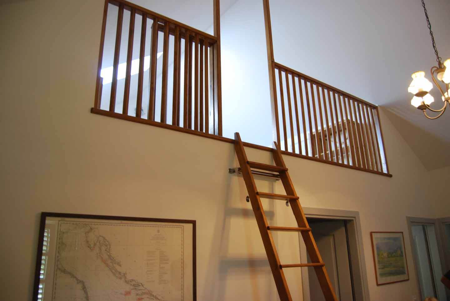 Ladder to gallery bedroom