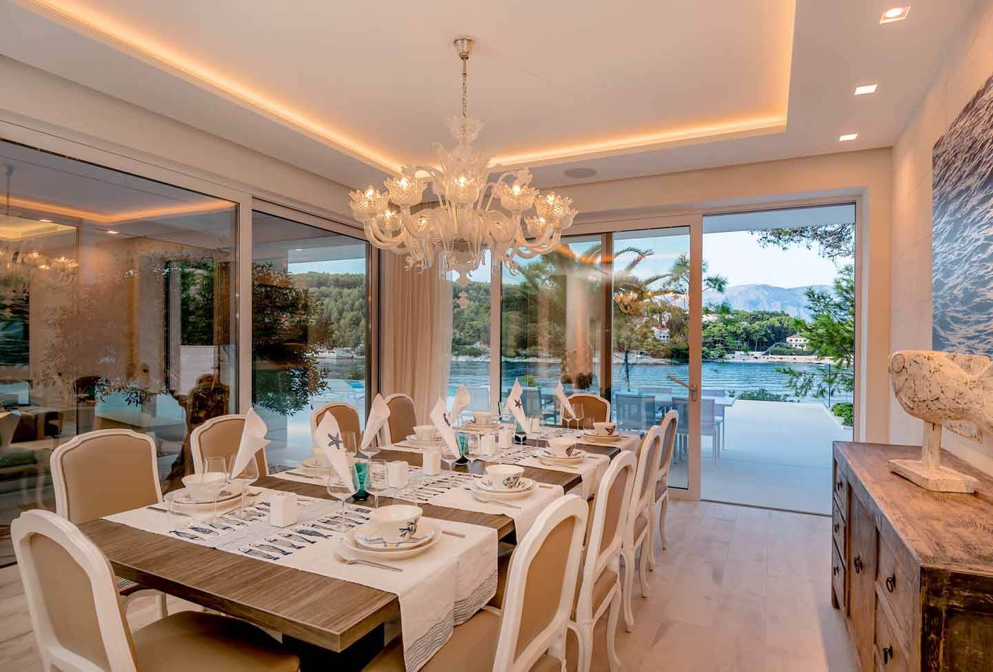 Dining area with stunning sea view