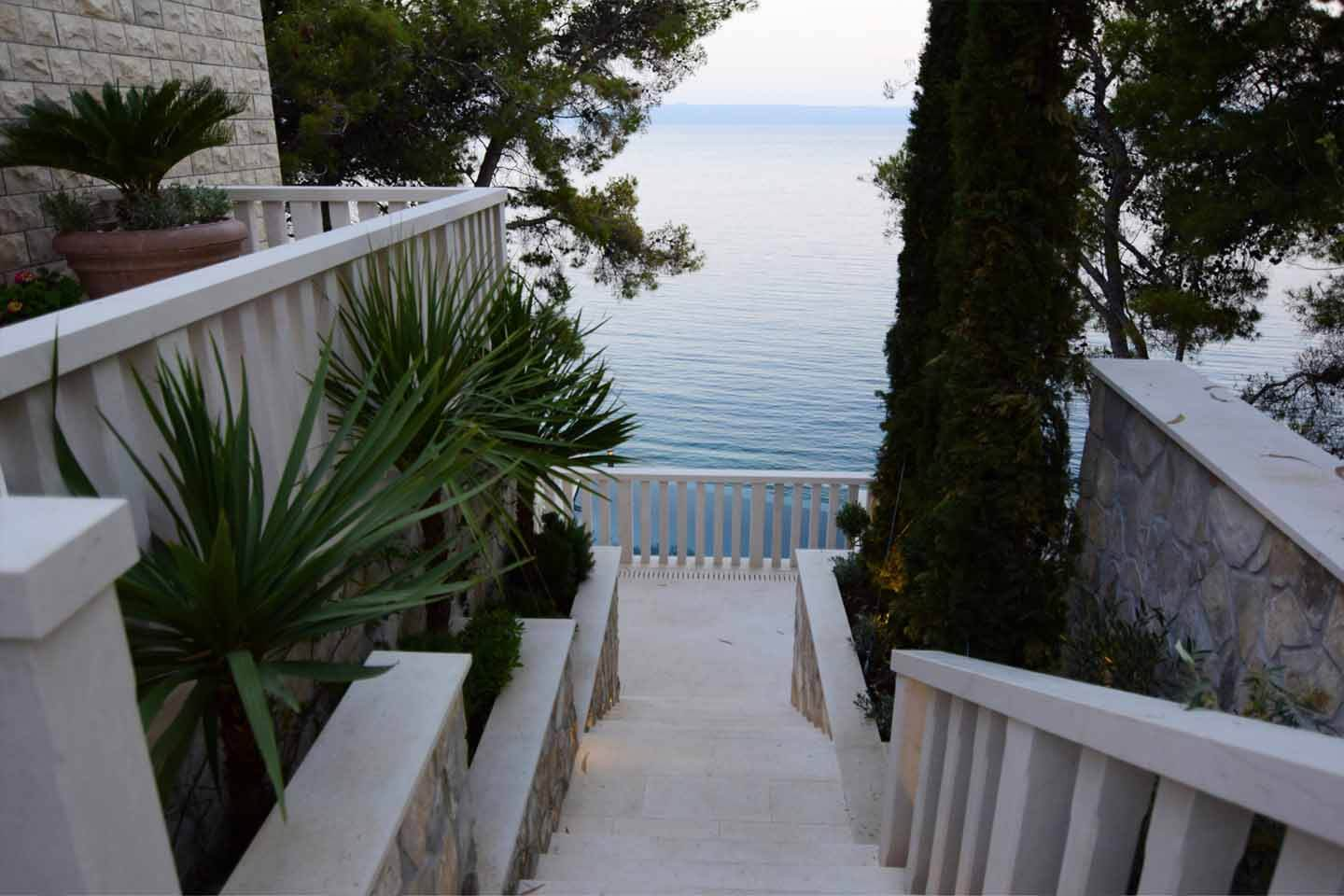 Outside stairs with sea view