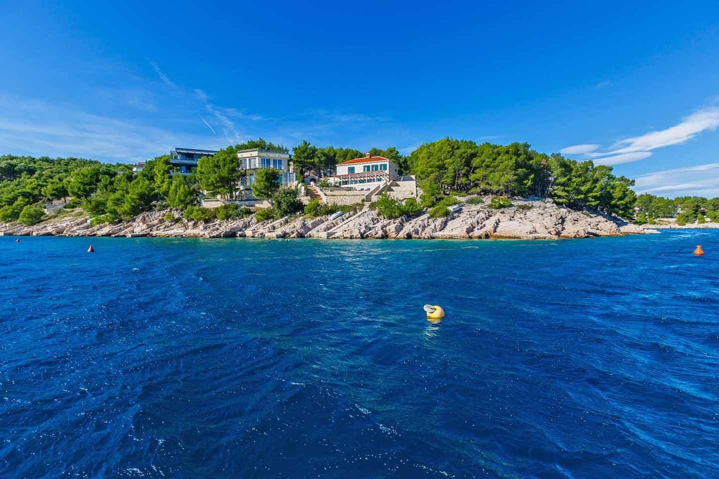 Villa from sea