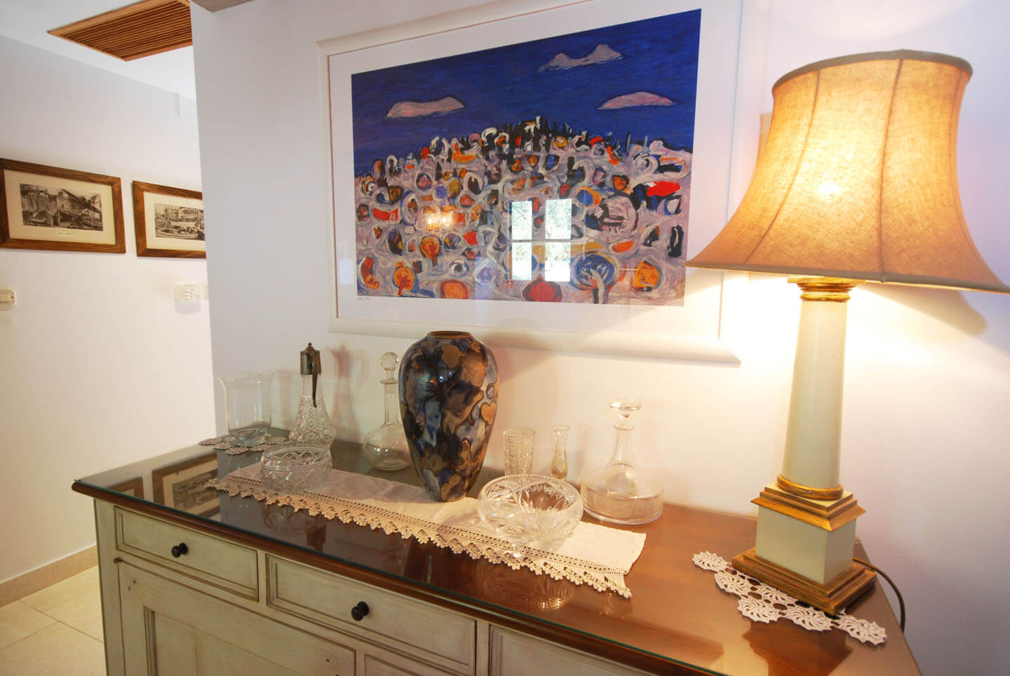 Sideboard in the living room