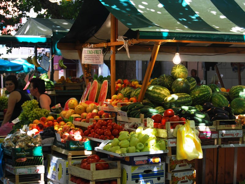 Fruit market in Omis