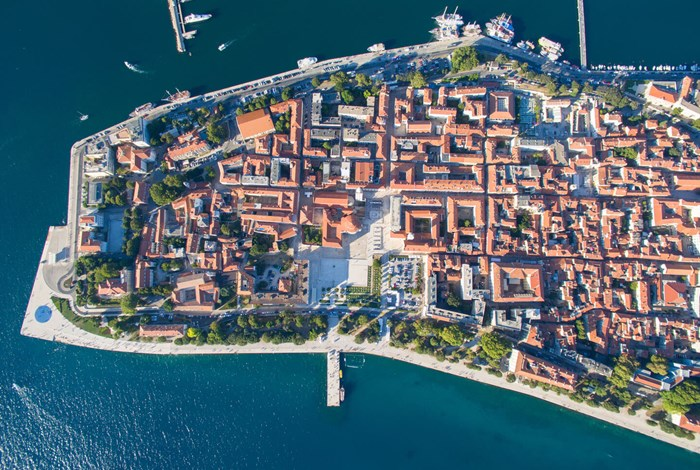 The old city of Zadar