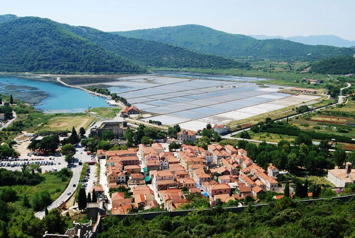 Ston town and salt pans