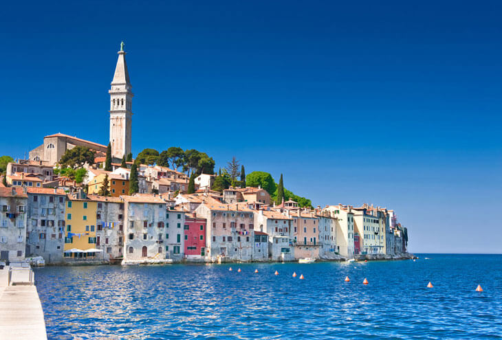 The famous Istrian town of Rovinj