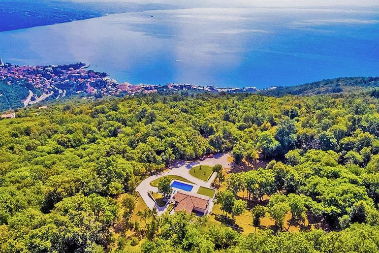 Secluded villa near Opatija
